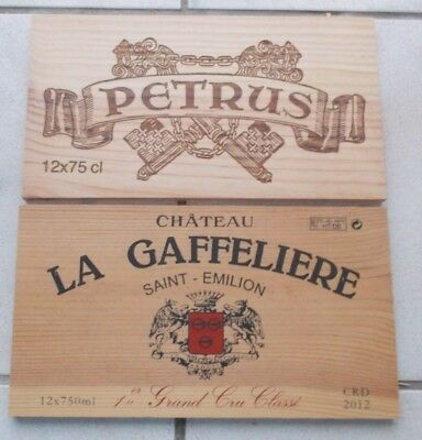 LOT DE 2 ESTAMPES  GRANDS VINS DE BORDEAUX PETRUS ,LA GAFFELIERE  1er GCC