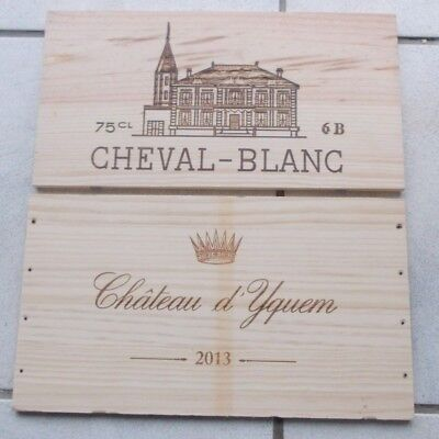LOT DE 2 ESTAMPES  GRANDS VINS DE BORDEAUX  YQUEM ,CHEVAL BLANC   1er GCC
