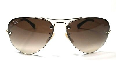 d5bf461fcd Ray Ban Sunglasses Aviator Pilot Gold Frame RB 3449 001 13 Gradient Brown  59mm