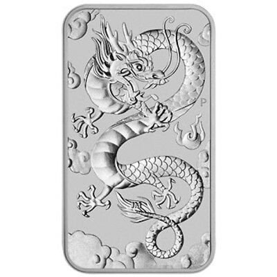2019 Dragon 1oz Silver Rectangle Coin - Free pouch