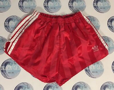 Vintage 1970's 1980's Football Soccer Shorts Red Adidas Made In West Germany Men