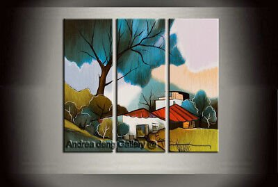 Framed Handpainted Art Wall Modern Itzchak Tarkay Oil Painting Canvas Landscape
