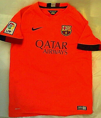 c4163fdd9 Nike Dri Fit Lionel Messi FC Barcelona Jersey Orange Youth Medium soccer  barca