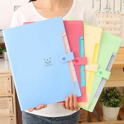 A4 Paper Expanding File Folder Pockets Accordion Document Organizer Durable