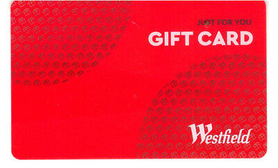 USED Westfield Gift Card No Load Value