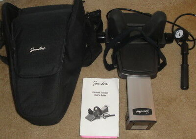 SAUNDERS CERVICAL TRACTION UNIT in CASE w/ MANUAL 8203928 Home Neck Device