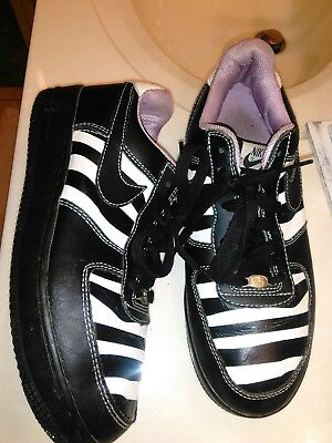 outlet store 9a342 5244c Nike Air Force 1 ZEBRA BLACK PURPLE 307109-001 DS 10W custom