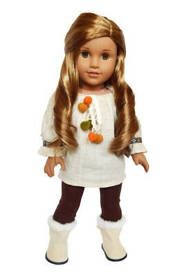 Ivory Tunic Doll Outfit Fits 18 Inch American Girl Doll Clothes