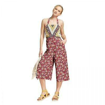 dd64a7810788 New Xhilaration™ Women s Floral Print Halter Top Overall Jumpsuit