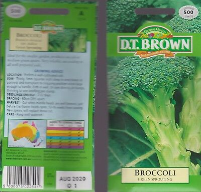 Broccoli GREEN SPROUTING - 500 seeds - FOIL PACKED