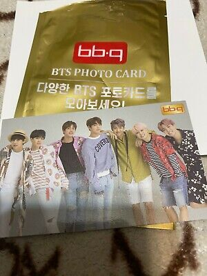 BTS Bangtan Boys BBQ Chicken Official Group Photo Card Ver.2 Code Limited