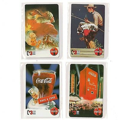 Coca Cola Coke Series 4 Sprint PhoneCard set of 4 $3 cards RARE HTF insert set