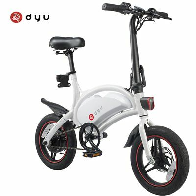 "New DYU D3 Folding 12"" Electric Bike 36V Electric Bicycle Ebike APP Control FA"