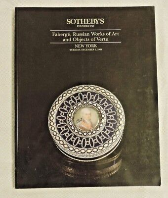 New York Sotheby's Faberge, Russian Works of Art and Objects of Vertu (1994)