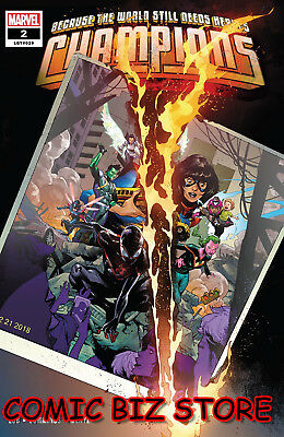 Champions #2 (2019) 1St Printing Main Cover Bagged & Boarded Marvel Comics