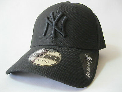 4e5ac56da32 NEW ERA NY Diamond Era 9Forty Hat Black Baseball Cap Mens Womens ...