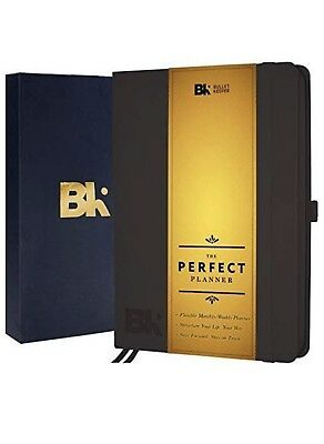 Bullet Keeper Black Hardcover Planner Undated Notebook Journal to Achieve Goals