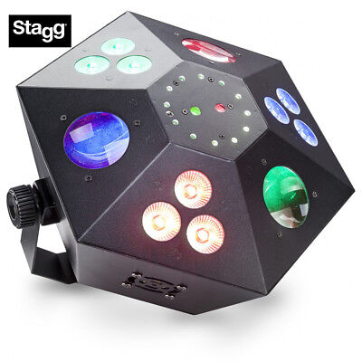 Stagg SLE-TRANCE60-1 Multi-Effects DJ Lighting Box Red/Green Lasers, 3 Color Was