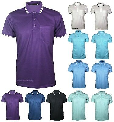 New Mens Pique Polo Poly Cotton Summer T-shirt Casual Top Quality M to 5XL