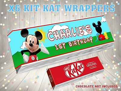 PERSONALISED FAIRY /& UNICORN Kit Kat Label Wrapper Ideal Party Bag Filler