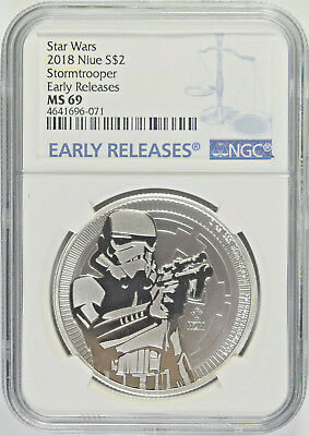 2018 Star Wars Stormtrooper Niue $2 NGC MS-69 Early Releases (1/2)