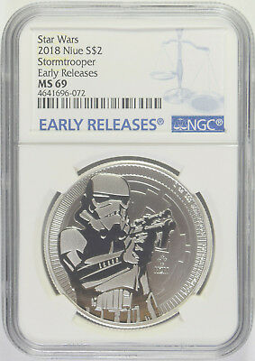 2018 Star Wars Stormtrooper Niue $2 NGC MS-69 Early Releases (2/2)
