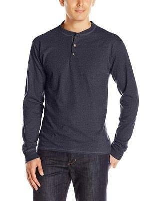 Hanes Men's Long-Sleeve Beefy Henley T-Shirt (Lots of Sizes and Colors)