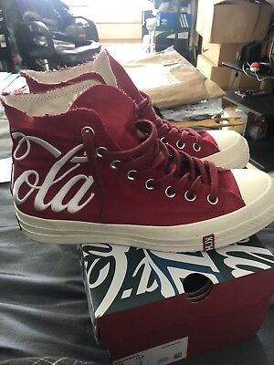 61461bd5094 KITH COCA COLA COKE CONVERSE CHUCK TAYLOR ALL STAR 70S HI RED USA Size 8.5