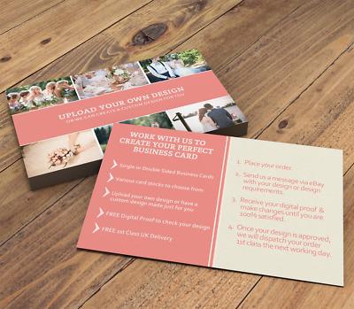Business Cards Printed Full Colour Single or Double Sided - Custom Design/Upload