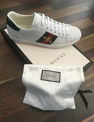 b68ed08f0 GUCCI ACE BEE Embroidered Trainers - Black / UK Size - 10 | BRAND ...