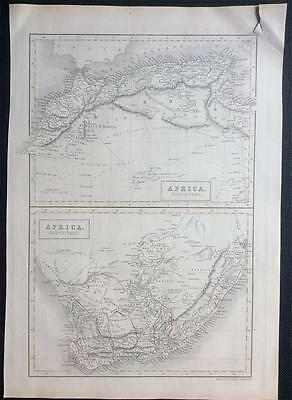 Map AFRICA c1843, Black's General Atlas of World, VGC, engraved, colour