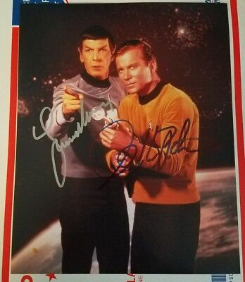 Leonard Nimoy /William Shatner  STAR TREK  AUTOGRAPH Spock/Kirk