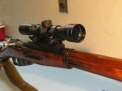 Mosin Nagant Scope Mount for the 91/30, See Through, Rear Sight Machined In Base