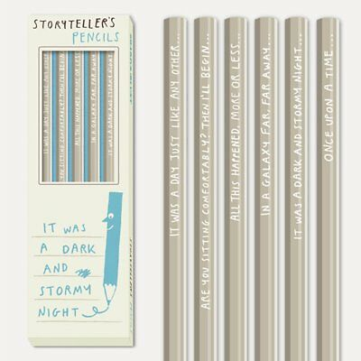Sharp & Blunt Storyteller Pencils For Budding Writers - 6 Boxed HB Pencils