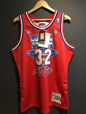Magic Johnson All Star Authentic Jersey Size L Mitchell Ness Jordan