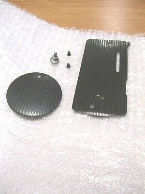 Vintage Singer Model 128 Sewing Machine Blackside Front & Rear Cover Plates