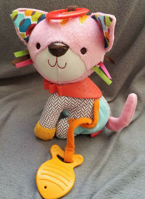 Skip Hop Bandana Buddies Kitty Cat Baby Activity, Teething Toy Rattle Plush
