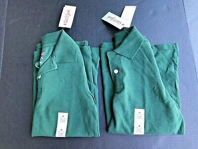 Green Uniforms Set 2 Shirts Size M(8/10) Collared Short Sleeve NEW W/Tags -A6
