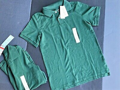 Forest Green Uniforms 2 Shirts Size XL(16) Collared Short Sleeve NEW W/ Tags -A5