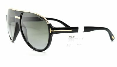 70bb46c28 Tom Ford Dimitry TF 334 01P Black Gold Aviator Sunglasses / Green Gradient  Lense