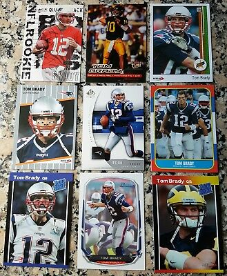 25 Card Lot Bowman Tom Brady Rookie Of The Year Promotion Rp