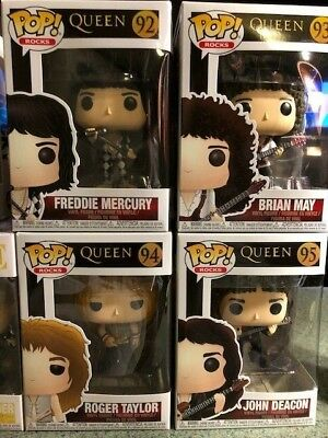 FUNKO POP ROCKS QUEEN FULL BAND SET OF 4 VINYL pop FIGURES  new!