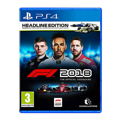F1 2018 Headline Edition (PS4) Game | Brand New & Sealed | + Fast Free Delivery!