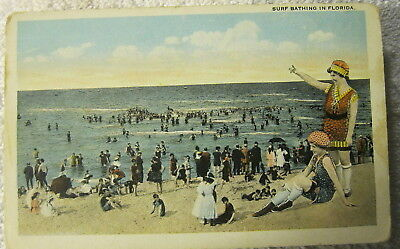 Vintage antique Surf bathing in Florida,old swimsuits,Victorian look,Bikini