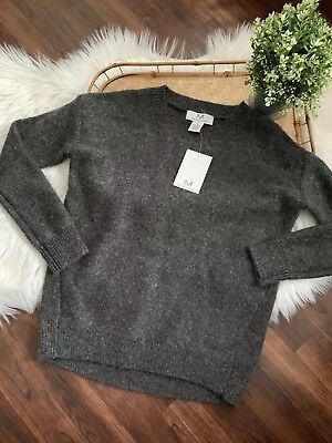 cc2af6c26b New Magaschoni Gray Crew Neck Knit Sweater Wool Mohair Blend NWT  118 Size  XS
