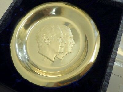 1973 Presidential Plate Sterling Silver Nixon/Agnew Franklin Mint