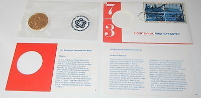 MINT Sam Adams & Patrick Henry Bicentennial First Day Cover Medal/Token/Stamps 4