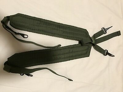 Genuine US Army LC1 OD Green Load Bearing Sholder Harness Suspenders Vintage New