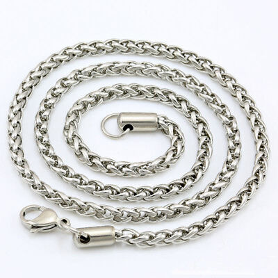 """18"""" 6mm Men's Women's 316L Stainless Steel Necklace Chain Silver N1V11B"""