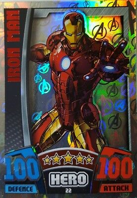 MARVEL HERO ATTAX Series 4  2015 HOLOGRAPHIC AVENGERS Card Set 16  (17 - 32) UK